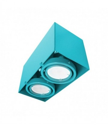 LAMPA SUFITOWA BLOCCO TURKUS 2x7W GU10 LED