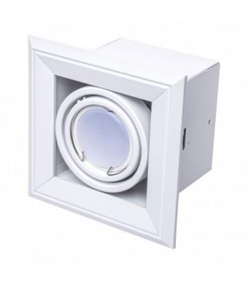LAMPA PODTYNKOWA BLOCCO BIA�Y 1x7W GU10 LED