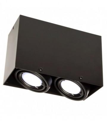LAMPA SUFITOWA BLOCCO CZARNA 2x7W GU10 LED