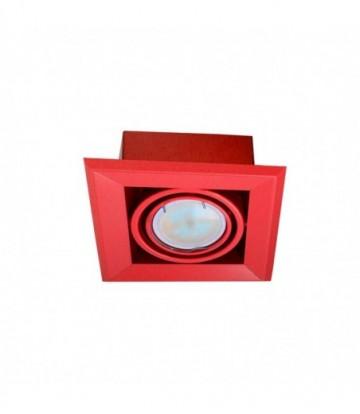 LAMPA PODTYNKOWA BLOCCO CZERWONY 1x7W GU10 LED