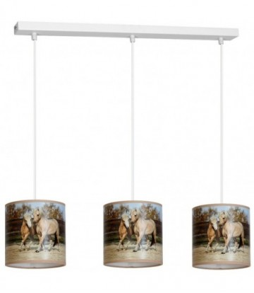 Lampa Wisząca HORSES 3xE27