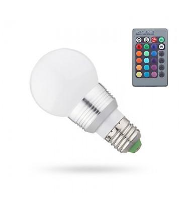 Żarówka LED 5W E27 RGB + pilot