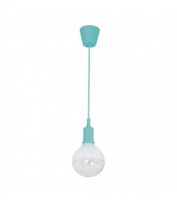 LAMPA WISZĄCA BUBBLE TURQUOISE 5W E14 LED